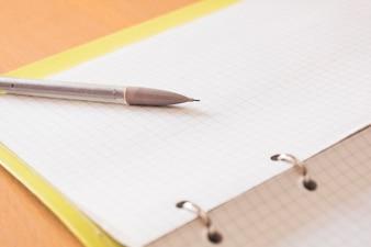 Lápis mecânico e notepad