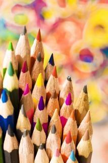lápis vermelho
