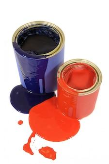 Latas de tinta de gota a gota Messy
