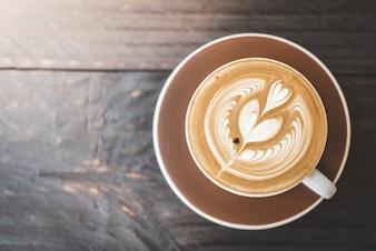 Latte, café, copo