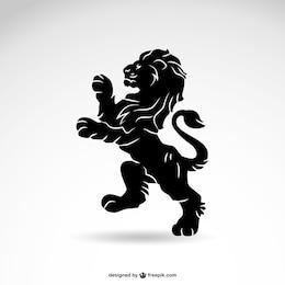 Leão vetor silhueta heráldica