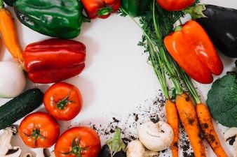 Legumes com espaço no meio