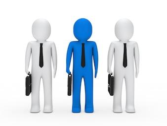 Líder com dois trabalhadores