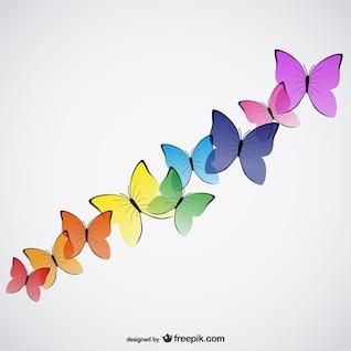 Lindas borboletas vetor