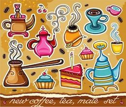 lindo café vetor aparelhos