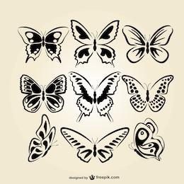 Linha borboletas arte set
