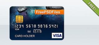 Livre PSD Template cartão de crédito