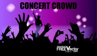 Livre Vector Crowd Concert