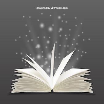 Livro aberto brilhante