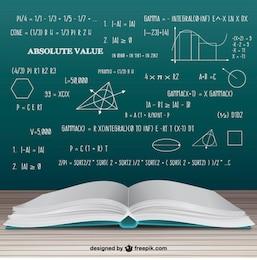 Livro de matemática aberto