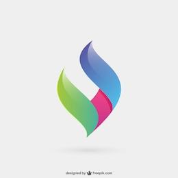 Logotipo abstrato e colorido