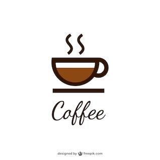 Logotipo do café com copo