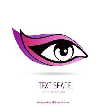 Logotipo do olho da mulher