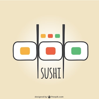 Logotipo do sushi colorido
