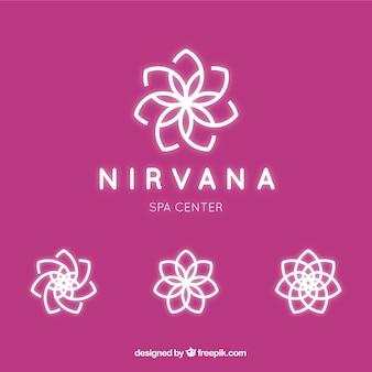 Logotipo floral para o centro de spa