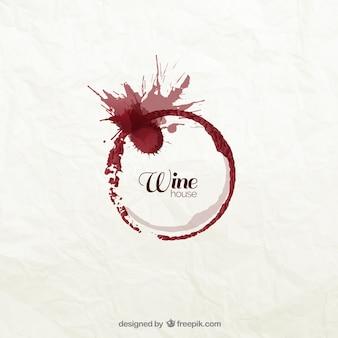 Logotipo mancha de vinho