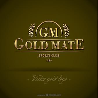 Logotipo modelo vetor livre ouro