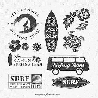 Logotipos da equipe Surf