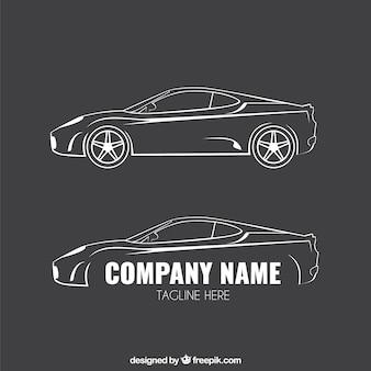 Logotipos do carro esboçado