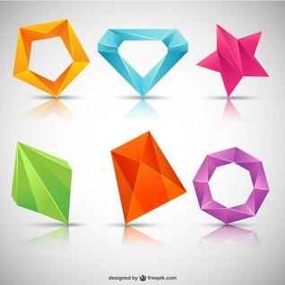 Logotipos poligonais