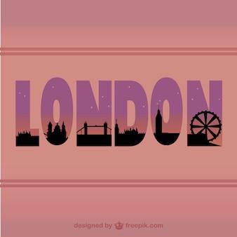 London paisagem urbana design tipográfico