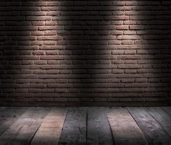 Luz de mesa como em um teatro para mostrar produtos