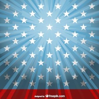 Luz solar EUA modelo de bandeira vetor