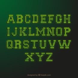Luzes Bulbo tipografia