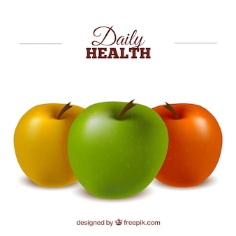 Maçãs saudáveis