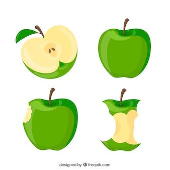 Maçãs verdes ilustração