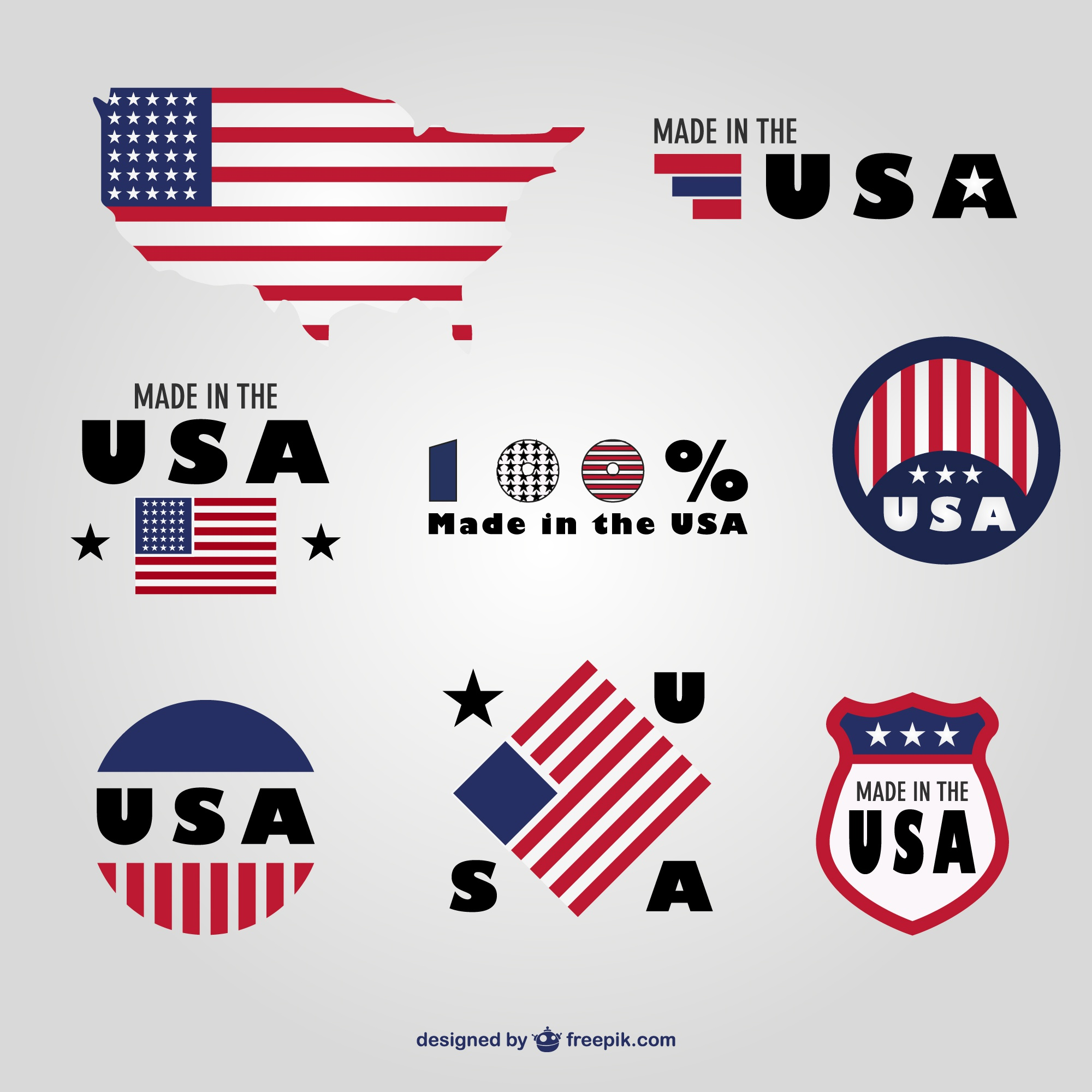 Made in USA emblemas definidos