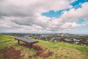 Madeira, ilha, cadeira, ao ar livre, costa