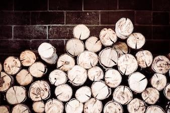 Madeira pilha de lenha casca de natureza rural