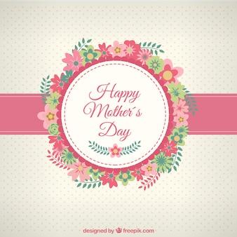 Mães cartão de feliz dia com flores
