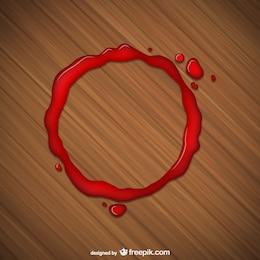 Mancha de vidro vermelho
