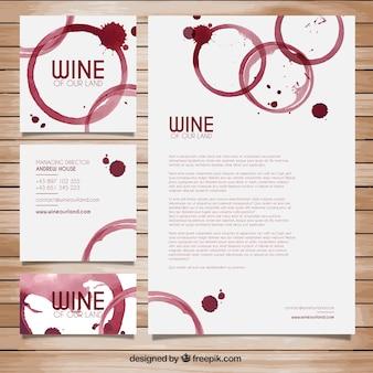 Manchas de vinho papelaria