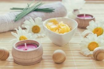 Manteiga de karité, vela e bolas