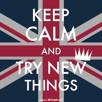 Manter cartaz britânico calma