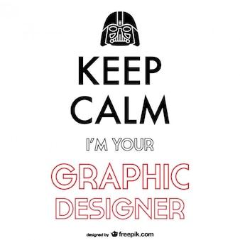 Manter cartaz design gráfico calma