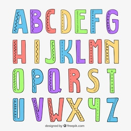 Mão alfabeto desenhada