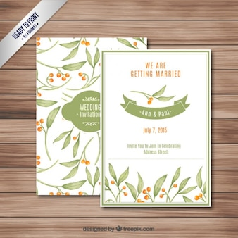 Mão convite de casamento pintado