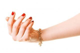 mão da mulher