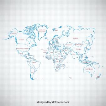 Mapa político esboçado