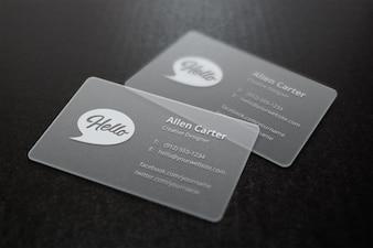 Maquete cinza cartões de visita