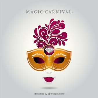 Máscara do carnaval com diamante