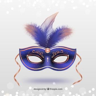 Máscara do carnaval-de-rosa