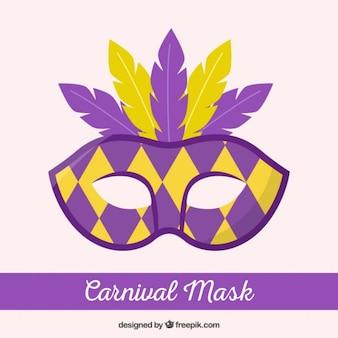 Máscara do carnaval em estilo arlequim