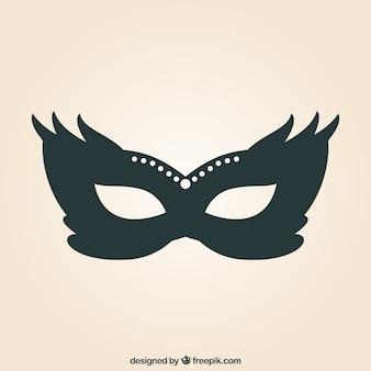 Máscara do carnaval ilustração