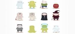 mascotes monstro vetor livre
