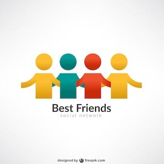 Melhores amigos logotipo